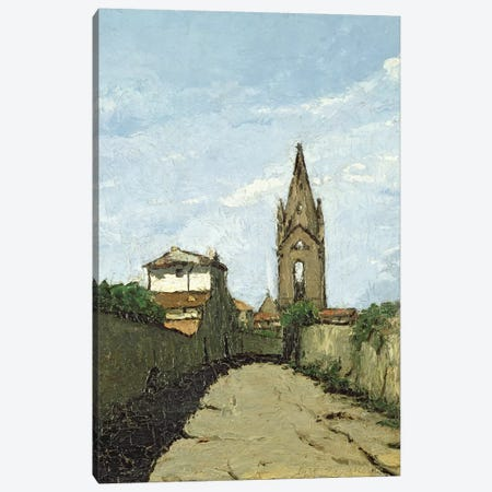 The Village Church, c.1866-70  Canvas Print #BMN1106} by Antoine Fortune Marion Canvas Art