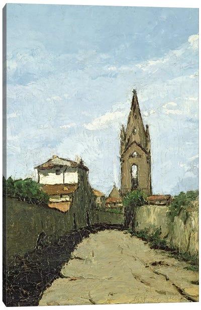 The Village Church, c.1866-70  Canvas Art Print