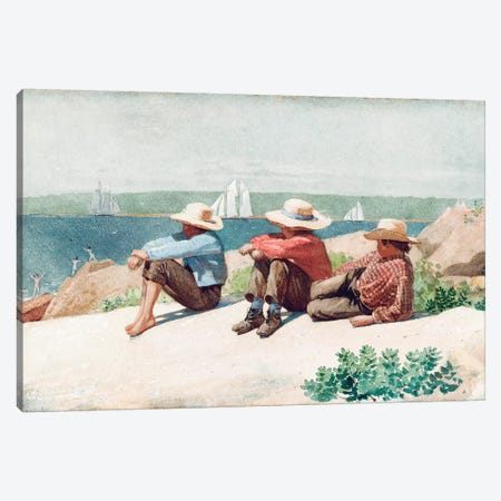 Watching the Ships, Gloucester, 1875  Canvas Print #BMN11070} by Winslow Homer Art Print