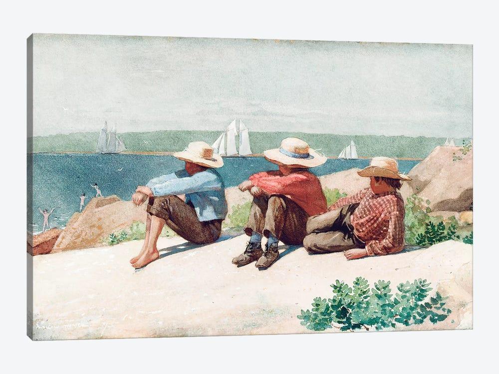 Watching the Ships, Gloucester, 1875  by Winslow Homer 1-piece Art Print