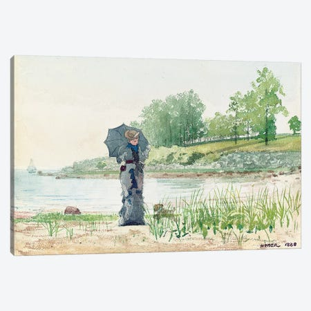 Young Woman, 1880  Canvas Print #BMN11072} by Winslow Homer Art Print