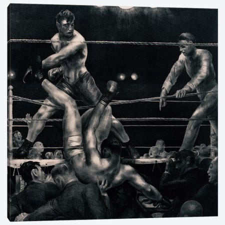 Dempsey And Firpo, 1923-24 Canvas Print #BMN11073} by George Wesley Bellows Canvas Print