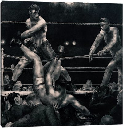 Dempsey And Firpo, 1923-24 Canvas Art Print