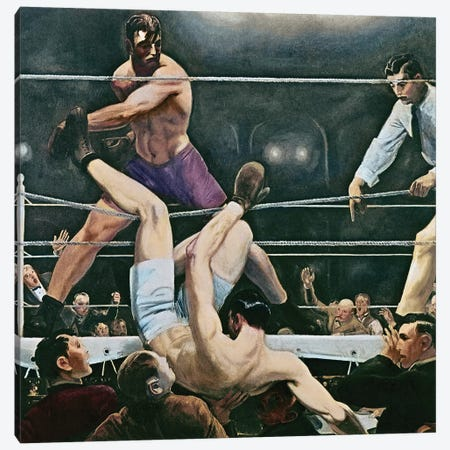 Dempsey V. Firpo In New York City, 1923, 1924 Canvas Print #BMN11074} by George Wesley Bellows Canvas Art