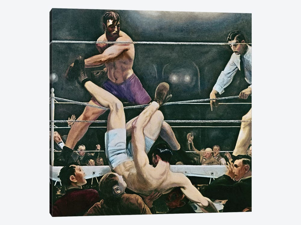 Dempsey V. Firpo In New York City, 1923, 1924 by George Wesley Bellows 1-piece Canvas Art Print