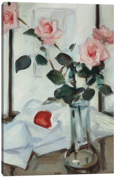 Queen Elizabeth Roses, C.1918 Canvas Art Print