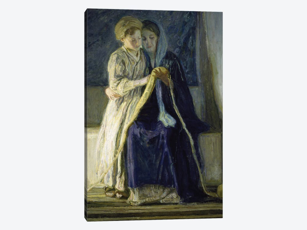 Christ And His Mother Studying The Scriptures, C.1909 by Henry Ossawa Tanner 1-piece Canvas Wall Art