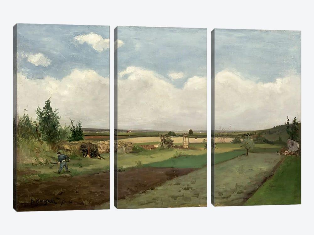 Landscape, 1873  by Paul Gauguin 3-piece Canvas Print