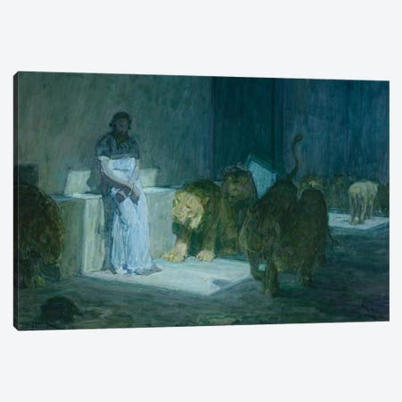 Daniel In The Lions' Den, 1907-18 Canvas Print #BMN11080} by Henry Ossawa Tanner Canvas Art