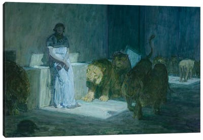 Daniel In The Lions' Den, 1907-18 Canvas Art Print