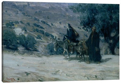 Flight Into Egypt, 1899 Canvas Art Print