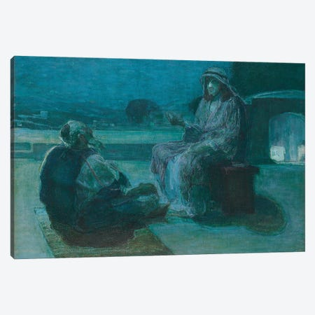 Nicodemus Coming To Christ, 1927 Canvas Print #BMN11087} by Henry Ossawa Tanner Canvas Art Print