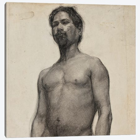 Study Of A Negro Man. C.1891 Canvas Print #BMN11089} by Henry Ossawa Tanner Canvas Art
