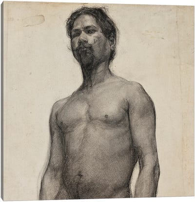Study Of A Negro Man. C.1891 Canvas Art Print