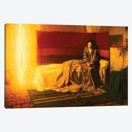 The Annunciation, 1898 Canvas Print #BMN11090} by Henry Ossawa Tanner Canvas Art Print