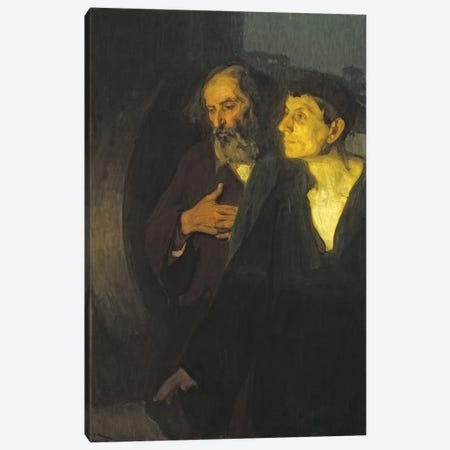 The Two Disciples At The Tomb, C.1906 Canvas Print #BMN11092} by Henry Ossawa Tanner Art Print