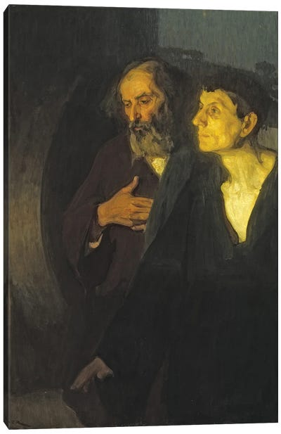 The Two Disciples At The Tomb, C.1906 Canvas Art Print
