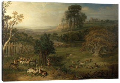 A Dewy Morning , 1849 Canvas Art Print