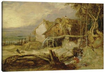 An Overshot Mill, C.1802-07 Canvas Art Print