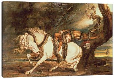 Boa Serpent Seizing His Prey Canvas Art Print
