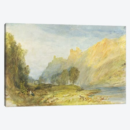 No.1520 Bruderburgen on the Rhine, 1817  Canvas Print #BMN1110} by J.M.W. Turner Canvas Wall Art