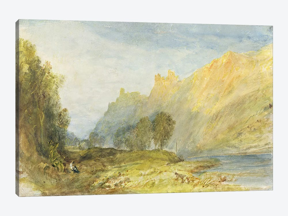 No.1520 Bruderburgen on the Rhine, 1817 by J.M.W Turner 1-piece Art Print