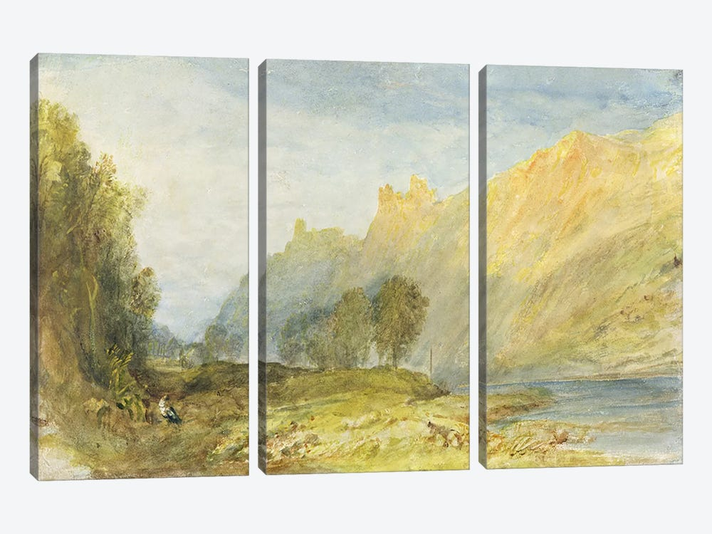 No.1520 Bruderburgen on the Rhine, 1817 by J.M.W Turner 3-piece Art Print