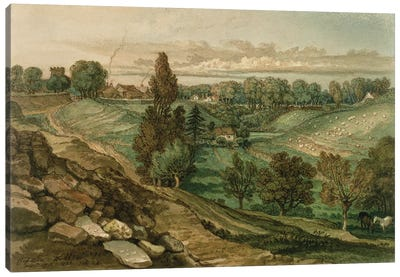 Chiseldon, Near Marlborough, Wiltshire, 1822 Canvas Art Print