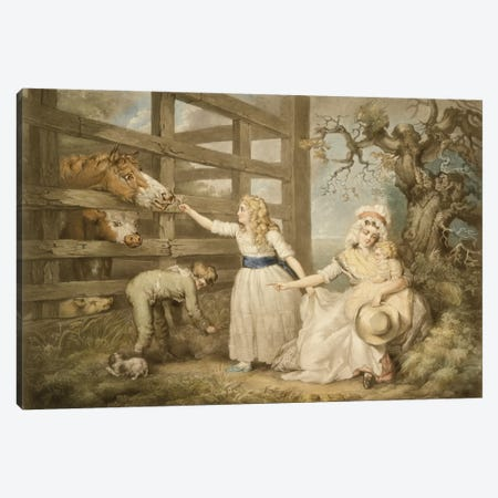 Compassionate Children, Engraved By William Ward 1793 Canvas Print #BMN11114} by James Ward Art Print