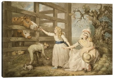 Compassionate Children, Engraved By William Ward 1793 Canvas Art Print