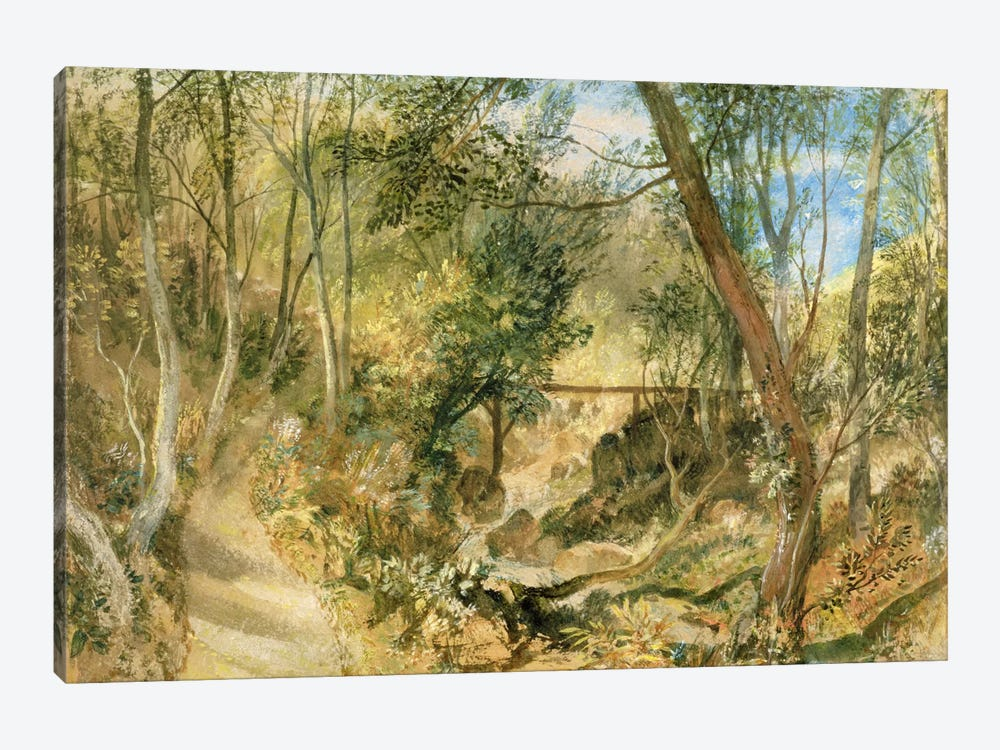 PD.50-1958 The Woodwalk, Farnley Hall, c.1818  by J.M.W. Turner 1-piece Canvas Wall Art