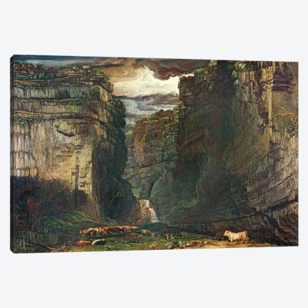 Gordale Scar, 1813 Canvas Print #BMN11124} by James Ward Canvas Wall Art