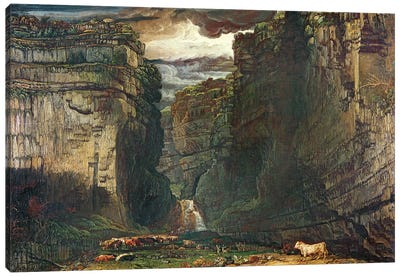 Gordale Scar, 1813 Canvas Art Print