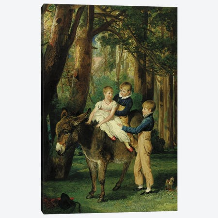 Group Portrait Of John, Theophilus And Frances Levett, 1811 Canvas Print #BMN11125} by James Ward Canvas Wall Art