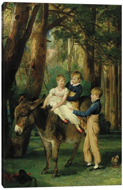 Group Portrait Of John, Theophilus And Frances Levett, 1811 Canvas Art Print
