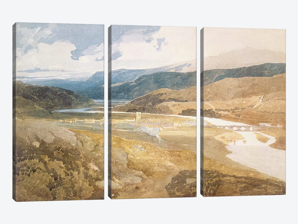 No.2303 Dolgelly, North Wales, 1804-05 by John Sell Cotman 3-piece Canvas Print
