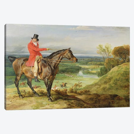 John Levett Hunting In The Park At Wychnor, Staffordshire, 1814-18 Canvas Print #BMN11130} by James Ward Canvas Artwork