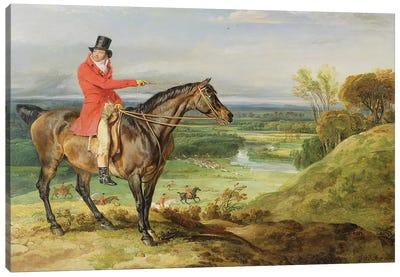John Levett Hunting In The Park At Wychnor, Staffordshire, 1814-18 Canvas Art Print