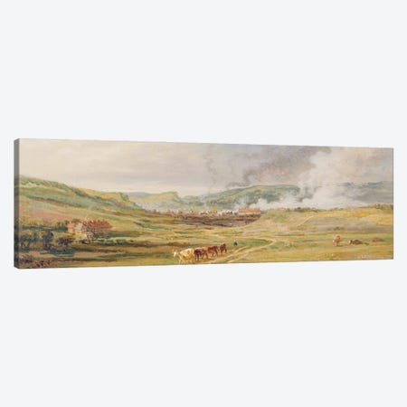 Landscape Near Swansea, South Wales Canvas Print #BMN11132} by James Ward Canvas Wall Art