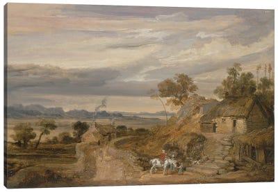 Landscape With Cottages, C.1802-07 Canvas Art Print
