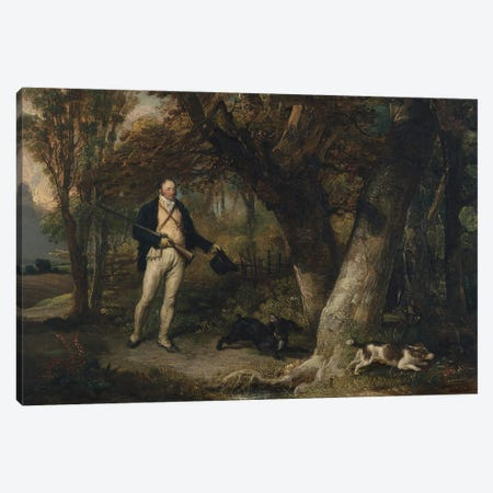 Portrait Of The Rev. Thomas Levett And Favourite Dogs, Cock-Shooting, 1811 Canvas Print #BMN11140} by James Ward Canvas Print