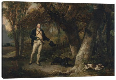 Portrait Of The Rev. Thomas Levett And Favourite Dogs, Cock-Shooting, 1811 Canvas Art Print