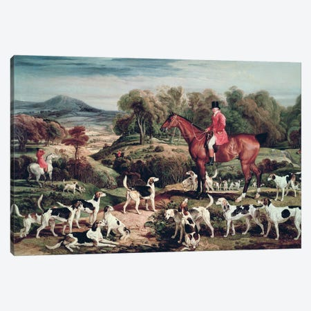 Ralph Lambton And His Hounds Canvas Print #BMN11143} by James Ward Art Print