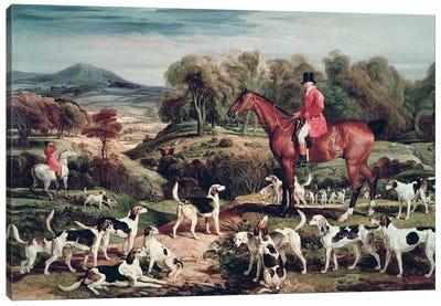 Ralph Lambton And His Hounds Canvas Art Print