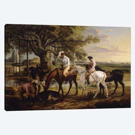 Sir Charles Blunt At The Death Of The Boar, 1816 Canvas Print #BMN11150} by James Ward Canvas Wall Art