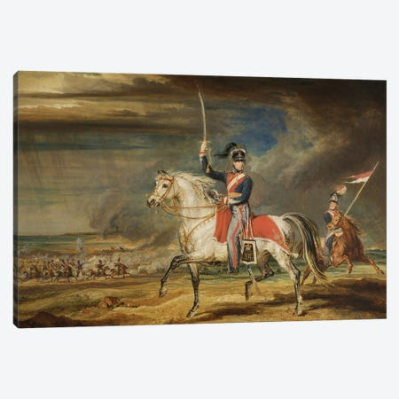 Sir John Leicester, Bt, Exercising His Regiment Of Cheshire Yeomanry On The Sands At Liverpool, 1824 Canvas Print #BMN11152} by James Ward Canvas Wall Art