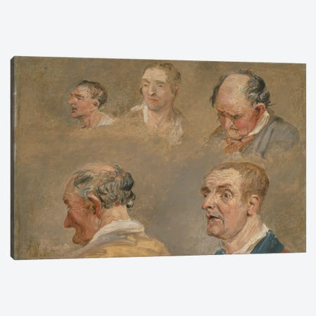 Studies Of Jacky Turner And The Reverend Charles Hope'S Gardener, C.1800-15 Canvas Print #BMN11156} by James Ward Art Print