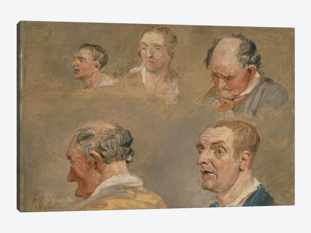 Studies Of Jacky Turner And The Reverend Charles Hope'S Gardener, C.1800-15 by James Ward 1-piece Canvas Art