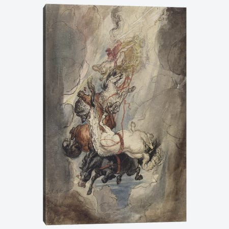 """Study For The """"Fall Of Phaethon"""", C.1808 Canvas Print #BMN11157} by James Ward Canvas Print"""