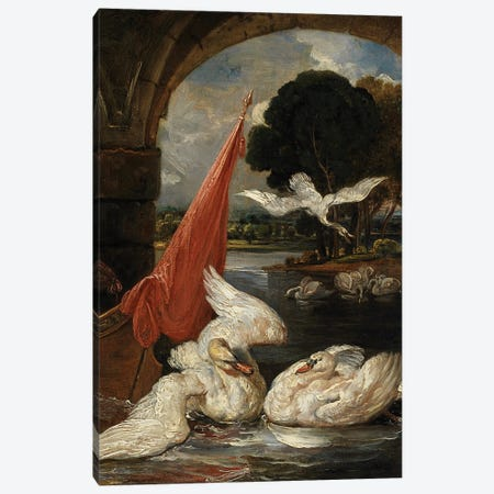 The Descent Of The Swan, Illustration For 'The Social Day' By Peter Coxe Canvas Print #BMN11160} by James Ward Canvas Art Print